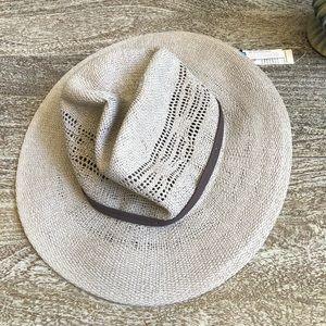 Treasure & Bond Open Weave Panama Hat In Grey